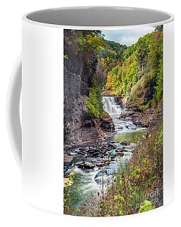 Letchworth Lower Falls In Autumn Coffee Mug