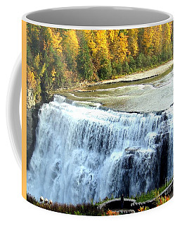 Letchworth State Park Middle Falls Autumn Coffee Mug