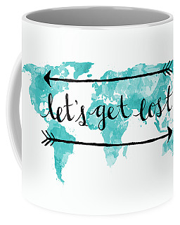 Let's Get Lost Coffee Mug