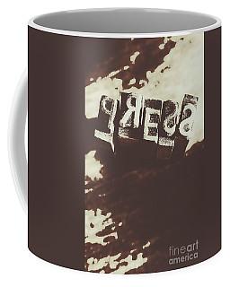 Letter Press Typeset  Coffee Mug