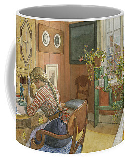 Letter-writing Coffee Mug by Carl Larsson