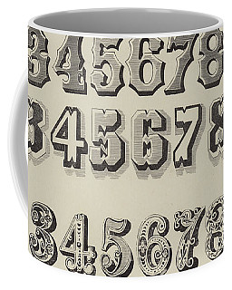 Letters And Numbers Coffee Mug