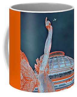 Coffee Mug featuring the photograph Letting Fly by Menega Sabidussi