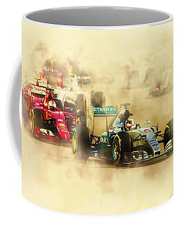 Lewis Hamilton Leads Again Coffee Mug