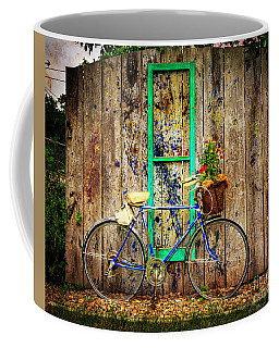 Coffee Mug featuring the photograph Lewistown Garden Bicycle by Craig J Satterlee