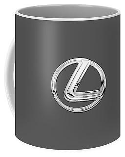 Lexus - 3d Badge On Black Coffee Mug by Serge Averbukh