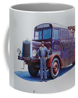 Leyland Wrecker 1930. Coffee Mug by Mike  Jeffries
