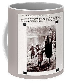 Coffee Mug featuring the photograph Jewish Refugees Liberated From The Concentration Camp Train 1945 By American Troops by Peter Gumaer Ogden