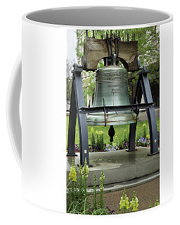 Coffee Mug featuring the photograph Liberty Bell Replica by Mike Eingle