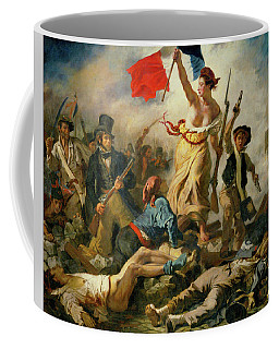 Coffee Mug featuring the painting Liberty Leading The People By Eugene Delacroix 1830 by Movie Poster Prints