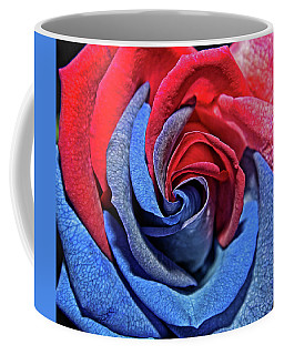 Coffee Mug featuring the photograph Liberty Rose by Judy Vincent