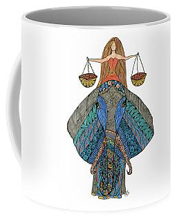 Coffee Mug featuring the drawing Libra by Barbara McConoughey