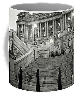 Coffee Mug featuring the photograph Library Of Congress In Black And White by Greg Mimbs
