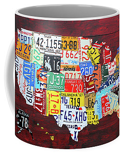 License Plate Map Of The United States Custom Edition 2017 Coffee Mug