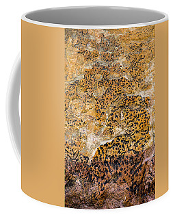 Coffee Mug featuring the photograph Lichen Abstract, Bhimbetka, 2016 by Hitendra SINKAR