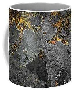 Lichen On Granite Rock Abstract Coffee Mug