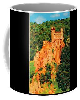 Coffee Mug featuring the painting Lichtenstein Castle by Deborah Boyd