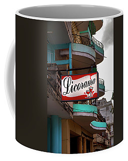 Coffee Mug featuring the photograph Licorama Bar Liquor Store In Havana Cuba At Calle 6 by Charles Harden