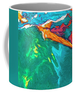 Coffee Mug featuring the painting Lies Beneath by Dominic Piperata