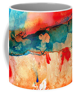 Life Eternal Red And Green Abstract Coffee Mug