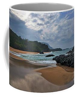 Coffee Mug featuring the photograph Life Is A Beach And Then You Die? Lumahai Beach, Kauai, Hawaii by Sam Antonio Photography