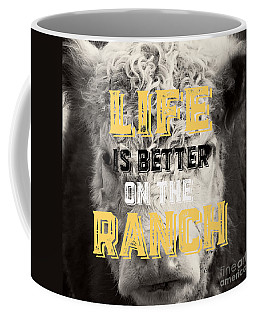 Life Is Better On The Ranch Square Coffee Mug
