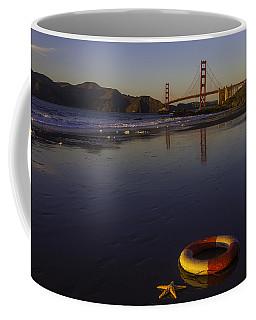 Life Ring And Starfish Coffee Mug