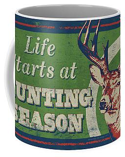 Life Starts Hunting Season Coffee Mug