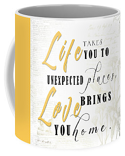 Life Takes You Coffee Mug by Beve Brown-Clark Photography