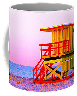 Lifeguard Stand Miami Beach Coffee Mug