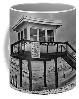 Lifeguard Station 1 In Black And White Coffee Mug