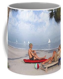 Coffee Mug featuring the digital art Life's A Beach by Jayne Wilson