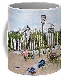 Life's A Beach Coffee Mug by Robin-Lee Vieira