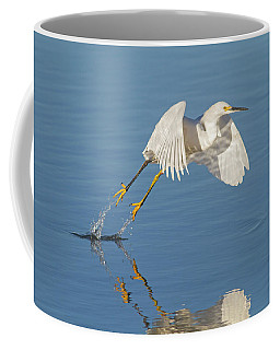 Lift Off- Snowy Egret Coffee Mug