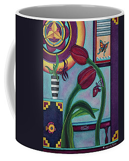 Lifting And Loving Each Other Coffee Mug by Lori Miller