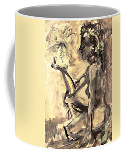 Coffee Mug featuring the painting Light And Shadow by Mary Schiros