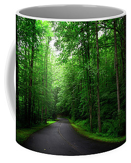 Light And Shadow On A Mountain Road Coffee Mug