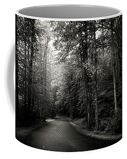 Light And Shadow On A Mountain Road In Black And White Coffee Mug