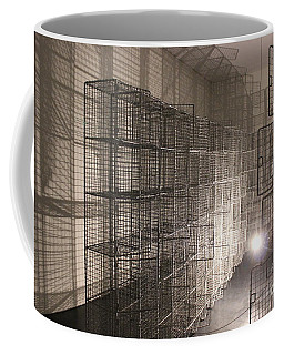 Coffee Mug featuring the pyrography Light And Shadow by Yury Bashkin