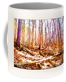 Coffee Mug featuring the photograph Light Between The Trees by Felipe Adan Lerma