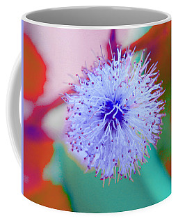Light Blue Puff Explosion Coffee Mug by Samantha Thome