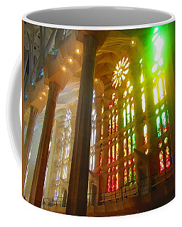 Coffee Mug featuring the photograph Light Of Gaudi by Christin Brodie