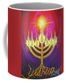 Coffee Mug featuring the painting Light Of Life by Nancy Cupp