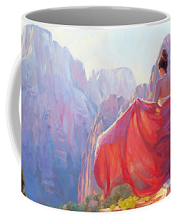 Coffee Mug featuring the painting Light Of Zion by Steve Henderson
