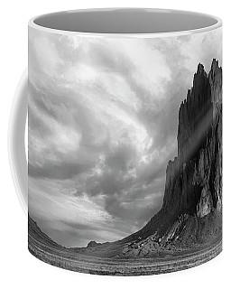 Coffee Mug featuring the photograph Light On Shiprock by Jon Glaser