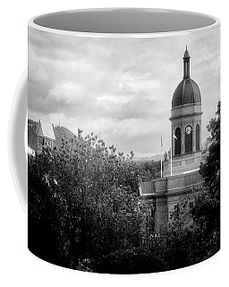 Light On The Courthouse In Black And White Coffee Mug