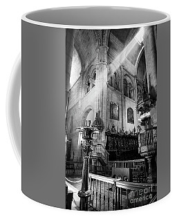 Light Ray In Lugo Cathedral Bw Coffee Mug