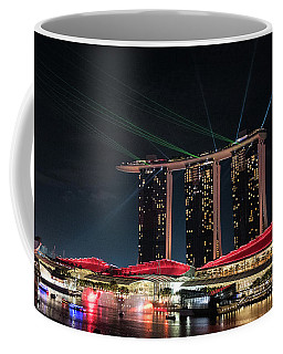 Light Show On Singapore Harbour Coffee Mug