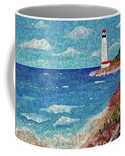 Coffee Mug featuring the painting Light The Way by Sonya Nancy Capling-Bacle