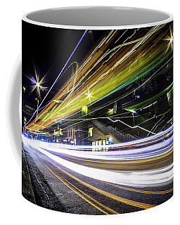 Coffee Mug featuring the photograph Light Trails 1 by Nicklas Gustafsson